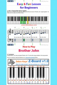How to Play Brother John and Virtual Piano.2