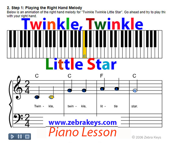 how to play twinkle twinkle little star2