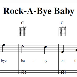 Rockabye Baby Sheet Music