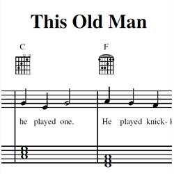 This Old Man Sheet Music