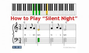 silent night up on the housetop sheet music - Free Christmas Piano Sheet Music