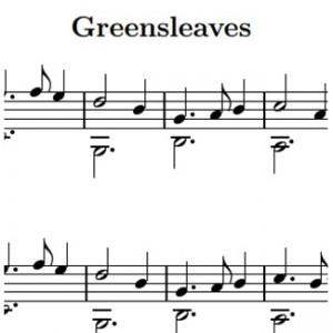 greensleeves-sheet-music