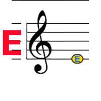 Treble E label