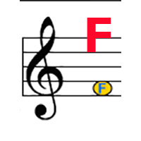 Treble F label